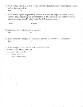 Cheating Survey