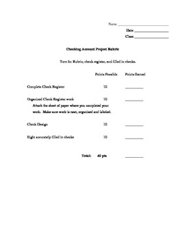 Check Account Venture ~ Adding/Subtracting Decimals