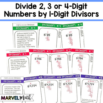 Check-As-You-Go Long Division Word Problems