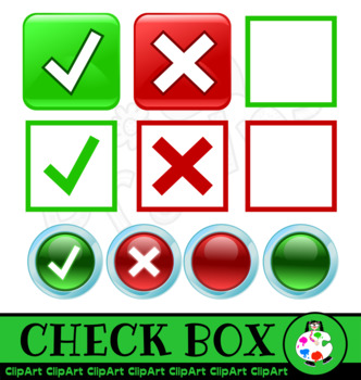 Check Box Clip Art Set