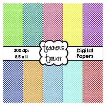 Check Digital Background Papers {8.5 x 11} Clip Art CU OK