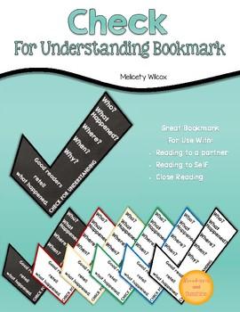 Check For Understanding Bookmark