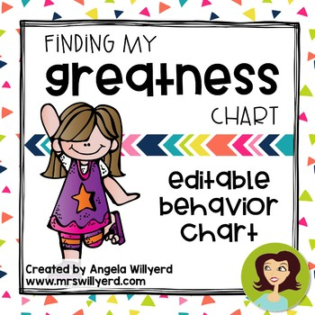 Behavior Chart: Check-In / Check-Out  {Editable} Finding My Greatness Chart