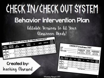 Check In/Check Out Behavior Plan (Non-Editable)