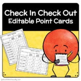Check In Check Out - EDITABLE Behavior Chart - Students Ca
