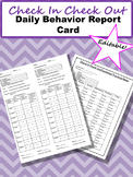 Check In Check Out Editable Daily Behavior Report Card