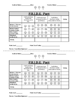 Check In/Check Out Form - CICO Elementary