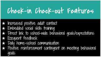 Check In Check Out Intervention: Google Form and Daily Sheet