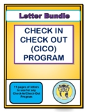 Check In Check Out Program Letters