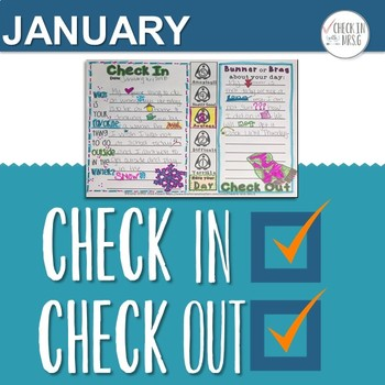 Check In Check Out Doodle Notes January