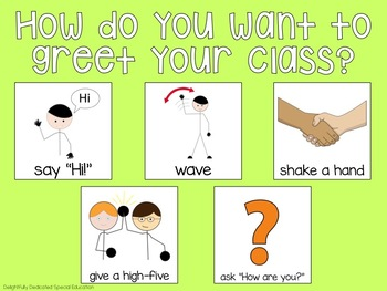 Check-In Interactive PDF for Special Education Classrooms
