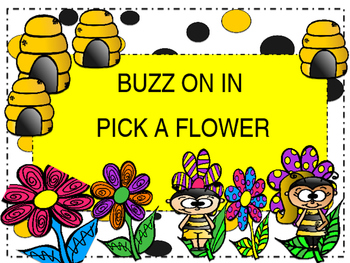 Check-In/Out Board (Bee Theme)