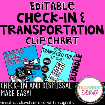 Check In and Dismissal Chart Bundle