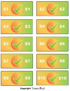 Check Mark Cash Play Classroom Money Reward