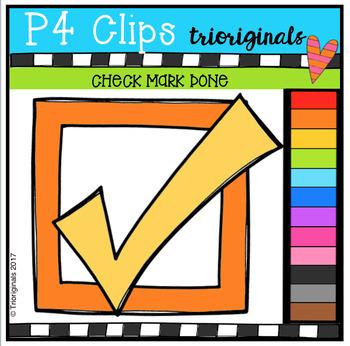 Check Mark Done {P4 Clips Trioriginals Digital Clip Art}