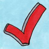 Check Mark Sticker or Clipart