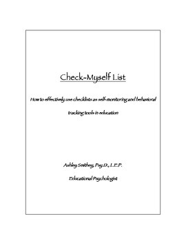 Check-Myself List: A Self-Monitoring Behavior Checklist