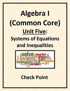 Check Point - Solving Systems of Linear Equations
