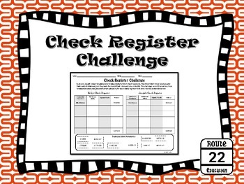 Personal Financial Literacy - Check Register Challenge