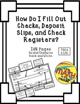 check register math teaching resources teachers pay teachers