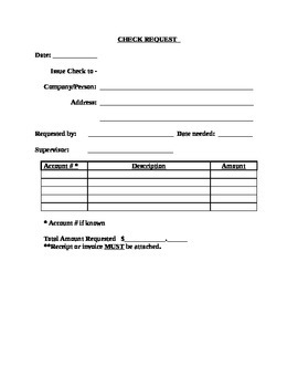 Check Request Record Form (Editable)