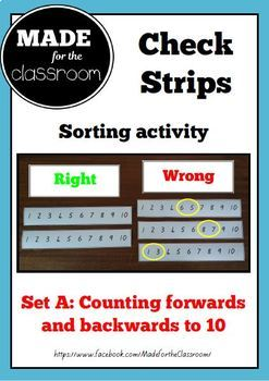 Check Strips - Counting forwards and backwards to 10
