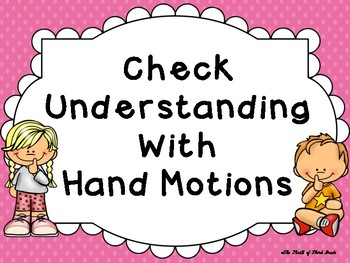 Check Understanding Posters (With Hand Signals)