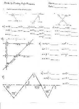 Check-Up:  Finding Angle Measures