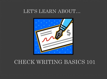 Check Writing Basics 101 (Powerpoint)