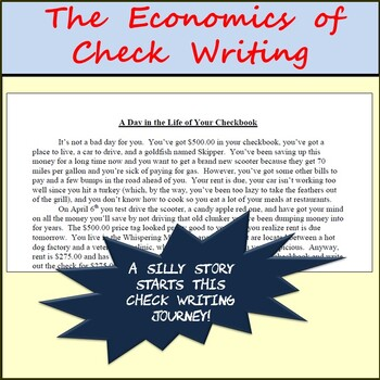 The Economics of Checks - Packet of Check Writing for Introductory Economics