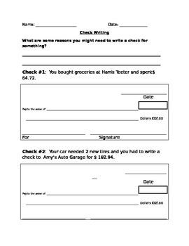 Check Writing Unit