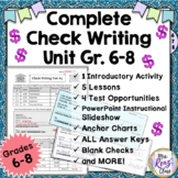 Check Writing Unit with Activities  Lessons and Tests (Gra