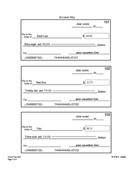 Check Writing Worksheet ( B... by Teachers in Love | Teachers Pay ...
