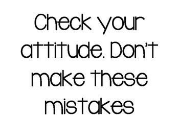 Check Your Attitude