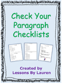 Check Your Paragraph Checklists