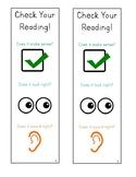 Check Your Reading Lucy Calkins Kindergarten Bookmark