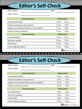 Check Yourselves -- Writing Strategies for ESL Students