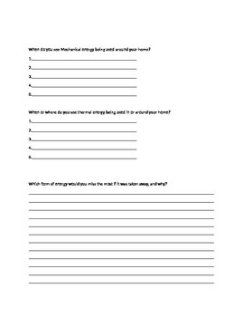 Check check homework on forms of energy