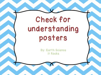Check for Student Understanding Posters