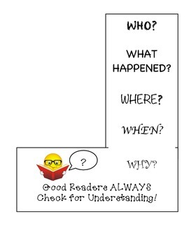 Check for Understanding Bookmark
