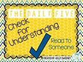 Check for Understanding Bookmark (Daily 5 Read to Someone)