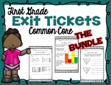 First Grade Math Exit Tickets Bundle