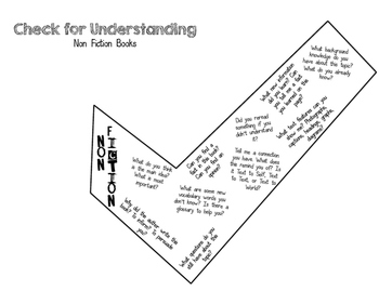 Check for Understanding Flags (Fiction and Nonfiction)