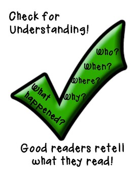 Check for Understanding - Mini Anchor Chart