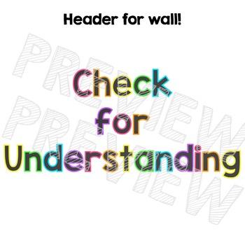 Multicultural Check for Understanding Posters - Neon Brights Chalkboard