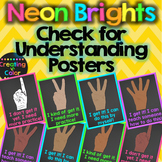 Multicultural Check for Understanding Posters - Neon Brigh