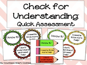 Check for Understanding Quick Assessment