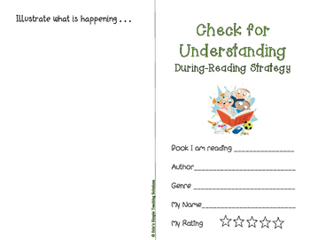 Check for Understanding Reading Comprehension Strategy
