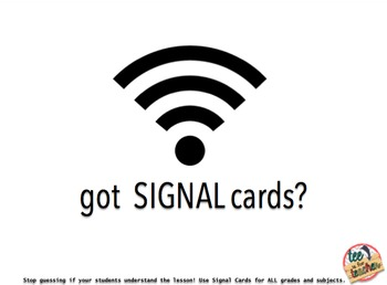 Check for Understanding Response Cards and Signal Cards BUNDLE