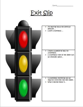 Check for Understanding Stoplight